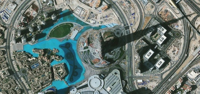 Burj Khalifa Tower - Via Geoeye