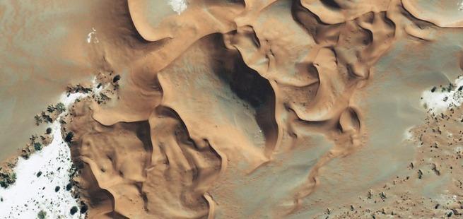 Namib Desert via Geoeye