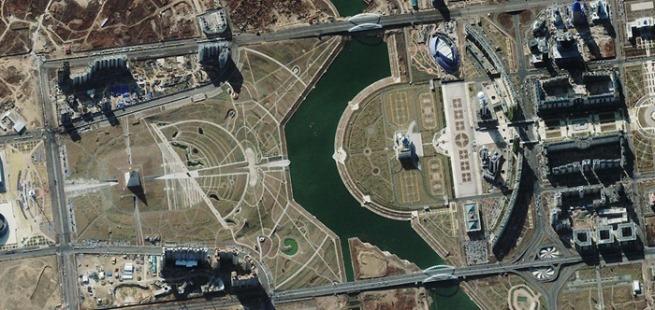 Presidential Palace, Kazakhstan via Geoeye
