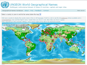 UN Place Names Database