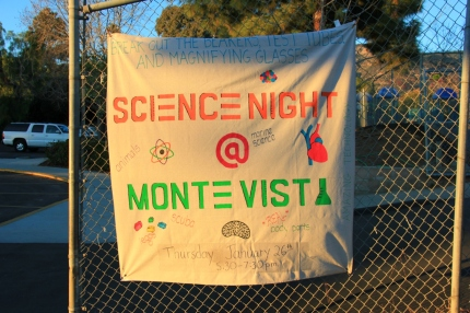 Monte Vista Science Night Sign