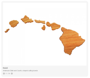 Hawaii Shaped Chopping Board