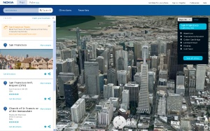 Nokia Maps San Francisco 3d